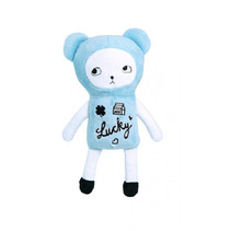 knuffelbeer junior 20 cm polyester blauw