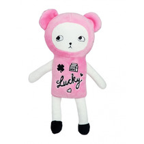 knuffelbeer junior 20 cm polyester roze