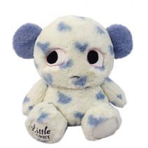 knuffelbeer junior 30 cm polyester wit/blauw