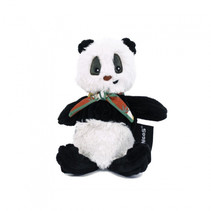 knuffel panda zwart/wit 22 cm