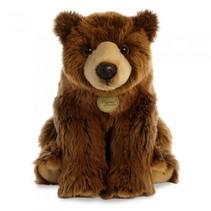 knuffel Mini Yoni grizzly beer bruin 38 cm