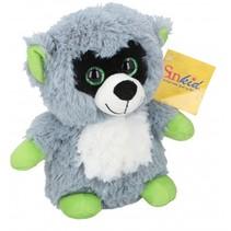 knuffel wasbeer 22 cm pluche grijs/groen