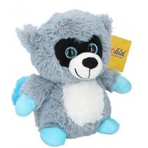 knuffel wasbeer 22 cm pluche grijs/blauw