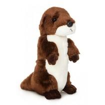 knuffel otter 20,5 cm bruin