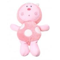 Glow In The Dark knuffel lieveheersbeestje roze 27 cm