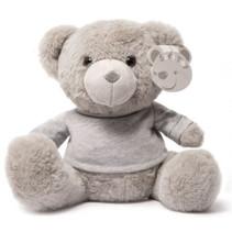 knuffelbeer met shirt junior 25 cm polyester grijs