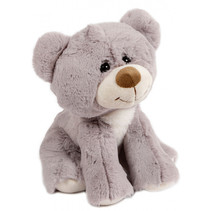 knuffelbeer junior 19 cm pluche grijs