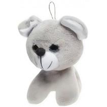 knuffelbeer junior 20 cm pluche grijs