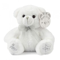 knuffelbeer Little Star 25 cm polyester wit