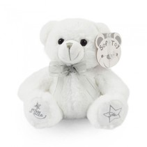 knuffelbeer Little Star 18 cm polyester wit
