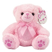 knuffelbeer Paws junior 20 cm polyester roze