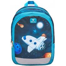 rugzak met ruimteschip junior 12 liter polyester blauw