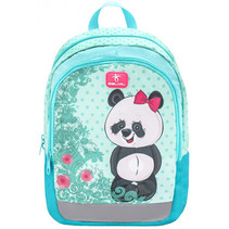 rugzak met panda junior 12 liter polyester turquoise