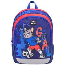 rugzak kat en voetbal  junior 12 liter polyester blauw
