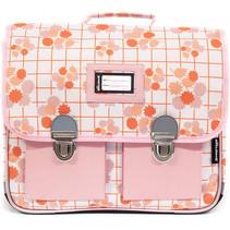 schooltas junior 38 cm polyester roze/oranje
