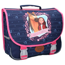 schooltas meisjes 20 liter polyester blauw/roze