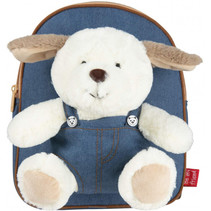 Backpack denim Danny Dog 2,7 liter 26 cm blauw/bruin