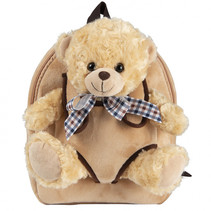 Backpack extra fluffy Belly Bear 2,7 liter lichtbruin
