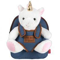 Backpack Denim Tiara Unicorn 2,7 liter blauw/bruin