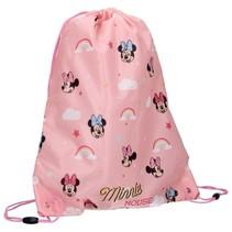gymtas Minnie Mouse Let's Party 44 x 37 cm roze
