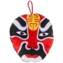 knuffelmasker Samurai jongens 14 cm pluche rood