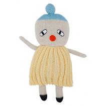 knuffelpop clown junior 20 cm alpaca wol geel