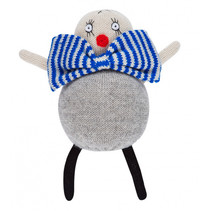knuffelpop clown junior 20 cm alpaca wol grijs