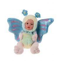 knuffel vlinderpop 23 cm meisjes blauw
