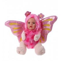 knuffel vlinderpop 23 cm meisjes roze