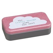bureaudoosje met inhoud Wolkje 11 cm roze