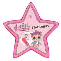tekenset roze haar ster 10 cm