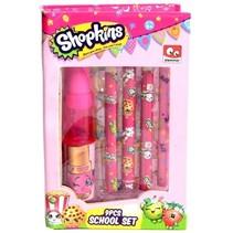 Shopkins schrijfset roze 9 delig