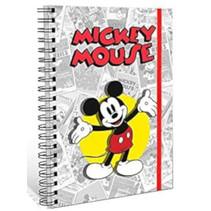 notitieboek Mickey Mouse jongens A5 karton/papier grijs