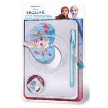 dagboek Frozen 2 meisjes 29 cm zilver 2-delig