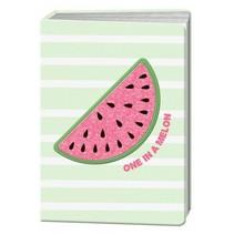 Happy Zoo notitieboek A5 watermeloen met glitter print