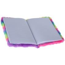 Notitieboekje pluche regenboog