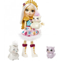 speelset Enchantimals Snowy Valley meisjes 15 cm 7-delig