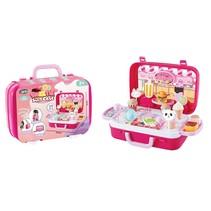 winkel snoep en ijs koffer roze 34,5 cm