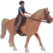 paard met ruiter bruin