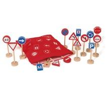 verkeersborden 65 cm 16 stuks