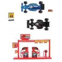 speelset Formule 1 die-cast 5-delig zwart/blauw