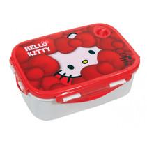 lunchbox Hello Kitty meisjes 2-delig rood/wit