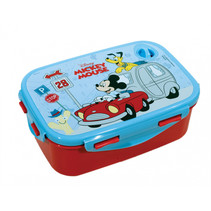 lunchbox Mickey Mouse junior 2-delig blauw/rood