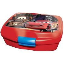 broodtrommel Cars 16 cm rood