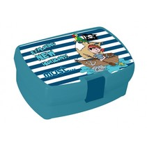 broodtrommel Piraten 1 liter blauw
