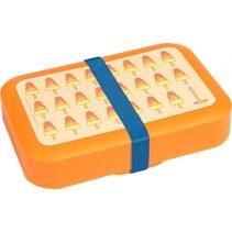 Lunchbox met elastiek groot oranje 1,5 liter