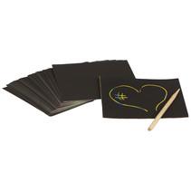 memoblaadjes Magic Color Scratch 9 cm zwart 25-delig