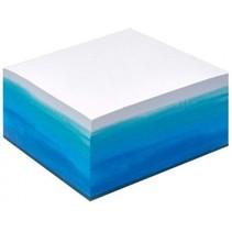memoblok Watercolor 450 memo's blauw