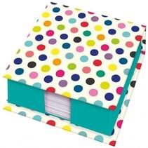 Box met memoblaadjes 400 vellen blauw 10 cm