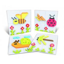 puzzelkunst Insecten 11 x 11 cm junior 301-delig